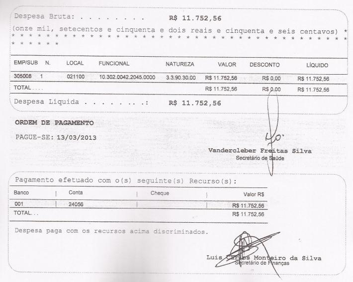 Ordem de pagamento 2