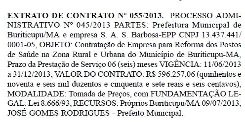 Resenha de contrato POSTOS DE SAUDE