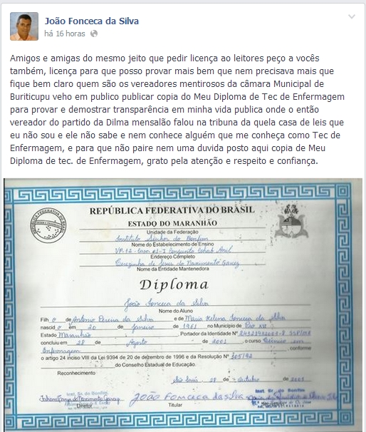 DIPLOMA PIPOCA