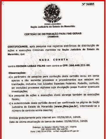 CERTIDÃO DE EDINHO