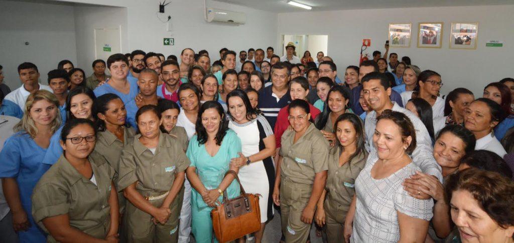 Governador Flávio Dino na inauguração da UPA de Açailândia. Foto: Francisco Campos/SES
