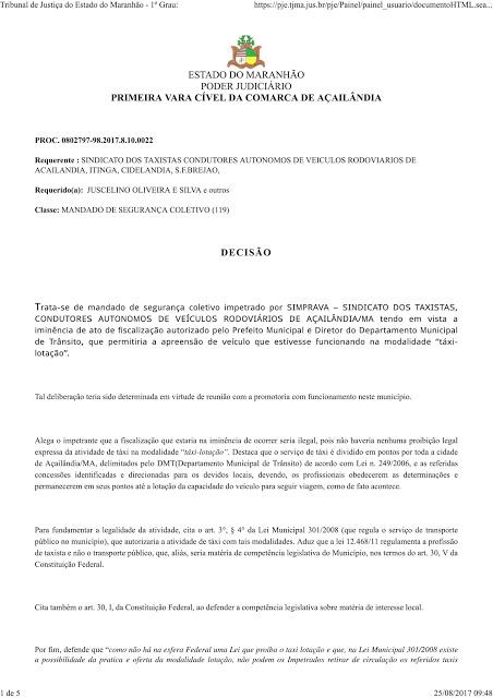 decisão sinprava-1