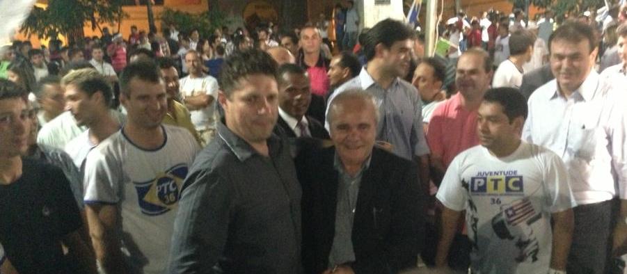 Ap. Alex Nunes e Edivaldo Holanda (presidente estadual do PTC)